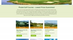 my phuket golf - hjemmeside detailjer
