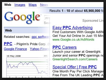 skærmbillede af en google søgning
